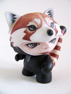 Munnyworld Customs: Red Panda by Stuart Harris, via Behance