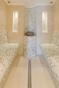 MLZ Pools & Wellness  Dampfbad Steam Shower Cabin, Sauna Steam Room, Home Spa Room, Spa Rooms, Steam Bathroom, Sauna House, Marble Tile Bathroom, Moroccan Bathroom, Sauna Design