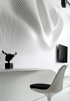 Organic Wall - http://myfancyhouse.com/2014/05/05/outstanding-bedroom-boasting-a-wavy-wall/