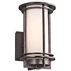 "LampsPlus: Kichler Pacific Edge 10 1/2"" High Bronze Outdoor Wall Sconce"