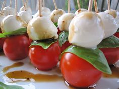 Caprese Skewers are a great summer appetizer with an Italian twist! These skewers are fancy enough for formal occasions, but are easy enough for your family BBQ. My friend, Christine H., makes a variation of these using olive oil, salt and pepper, but leaves out the basil. I must say, …
