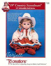 """19"""" Country Sweetheart, Td Creations crochet patterns for dolls"""
