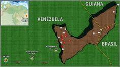 Mapa e principais atrações do 'Trekking Monte Roraima'