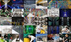 The interior of eight of Google's secretive server farms around the globe, from Finland to Iowa