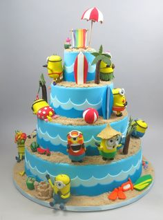 Wonderful Image of Birthday Cake Shapes For Boys . Birthday Cake Shapes For Boys Best Kids Birthday Cakes And Custom Cakes Worth Celebrating Birthday Cake Kids Boys, 6th Birthday Cakes, Minion Birthday, Minion Party, Bolo Minion, Minion Cakes, Bolo Diy, Birthday Cake Pinterest, Cake Recipes For Kids