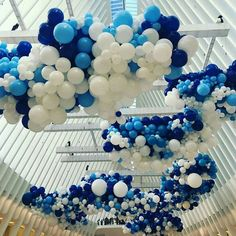 Meanwhile in new York. This insane balloon installation to celebrate world water day Inspirational picture