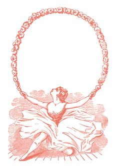 *The Graphics Fairy LLC*: Vintage Clip Art - Ballerina with Garland - Graphic Frame
