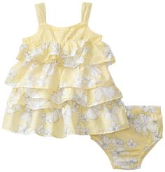 Calvin Klein Baby-girls Infant Print Dress and Panty Set