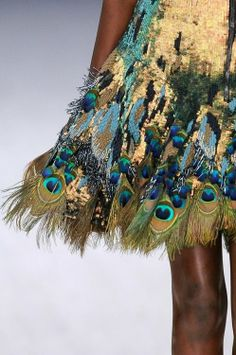 pretty peacock feathers and sequins