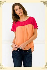 color blocking top from francesca's
