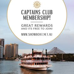 Join the all new Captain's Club and receive off your bill plus exclusive news, member's only specials, events news and pre-sale offers, recipes, competitions and a free Cruise on your birthday. Brisbane River, Upcoming Events, It's Your Birthday, Cruise, Join, Club, News, Water, Recipes