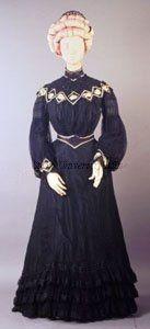 Dress 1902, British, Made of silk taffeta