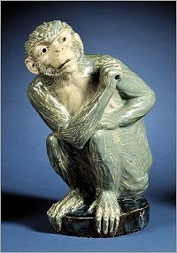 Doulton Lambeth stoneware monkey by George Tinworth c. 1885
