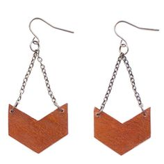 Leather Chevron Earrings--also necklace here----diy?