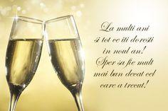 Felicitare Anul Nou doua pahare