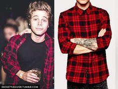 Luke Hemmings: Red Plaid Check Shirt Similar / Similar / Similar/ Similar/ Similar / Similar/ Similar