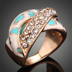 #Rhinestone #Finger #Ring,  different size for choice & with rhinestone,