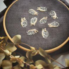 yukiringo :: embroidery :: hedgehogs