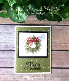 Stampin' Up! Painted Harvest Christmas Card - Peggy Noe - stampinup