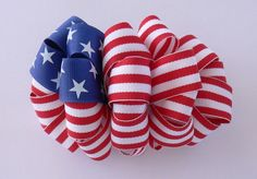 American Flag Loopy & Flower Bow Instructions