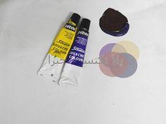 Mahmued.Art: الاوان تكوين اللون البنى باندماج لونين الاصفر والبنفسجي نسبه الدمج الأصفر ١ البنفسجي١