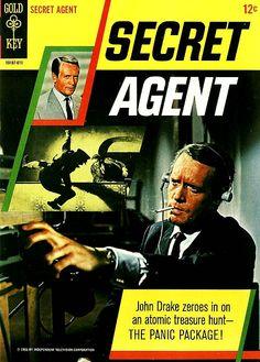 Secret Agent comic featuring Patrick McGoohan, 1966.