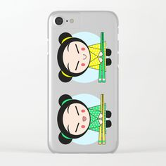 Funny Japanese Girls Clear iPhone Case by LaskaArt | Society6