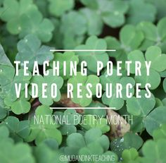 National Poetry Month with Mud and Ink Teaching