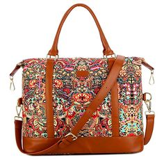 BAOSHA Women Ladies Travel Weekender Bag Overnight Carry-on in Trolley Handle (Colour) - Great quality made product.This Baosha that is ranked 145806 in t Hand Luggage Suitcase, Carry On Luggage, Luggage Deals, Luggage Brands, Weekend Travel Bag, Travel Tote, Childrens Luggage, Girl Backpacks, Purses