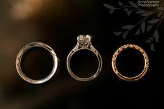 Anna and Spencer Photography. Atlanta Wedding Photographers. Wedding rings .