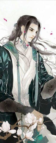 Kết quả hình ảnh cho mỹ nam cổ đại tóc trắng