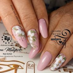 Wedding Nails-A Guide To The Perfect Manicure – NaiLovely Rose Gold Nails, Red Nails, Cute Nails, Pretty Nails, Nails Only, Floral Nail Art, Diy Nail Designs, Nagel Gel, Flower Nails