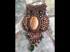 Free Beading Pattern: Owl Capone from Bronzepony Beaded Jewelry feature in Bead-Patterns.com Newsletter