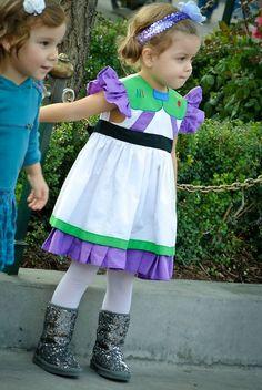 BUZZ LIGHt GIRL!!!! - Cutest little girl in a Buzz Lightyear Dress