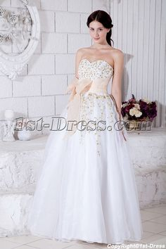 Sweetheart Neckline White Organza Puffy Floor Length Quinceanera Dresses With Gold Embroidery White Quinceanera Dresses, Cheap Prom Dresses, Bride Dresses, Sweet 16 Dresses, One Shoulder Wedding Dress, Wedding Gowns, Ball Gowns, Evening Dresses, Floor