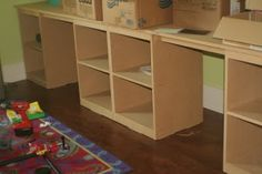 Desks for homeschool room.  Simple.