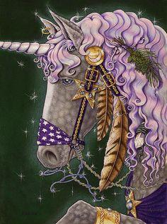 Unicorne Faeries Mixed Media  - Unicorne Faeries Fine Art Print