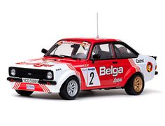The Sunstar Ford Escort MK2 RS1800 1981 Droogmans, is a diecast model rally car in 1/18th scale, and a new release for 2011.    This diecast model rally car represents, in stunning detail the Ford Escort MK2 driven during the 1981 Skoda rally.
