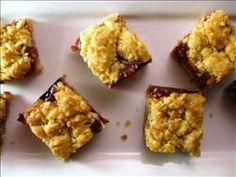 """""""My grandmother's raspberry squares are my favorite Passover dessert. My grandmother has been making these for as long as I can remember, and as long as my mother can remember too."""" - Cara Lyons"""