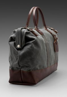 """BILLYKIRK Large 20"""" Carryall in Ash Wax/Brown - #Bags #Menswear Like our FB Page https://www.facebook.com/effstyle"""