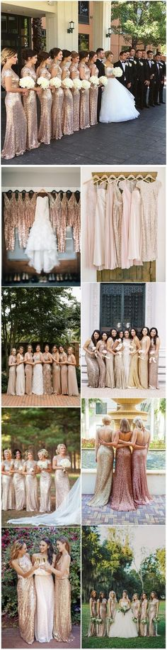 22 Glamorous Gold Bridesmaid Dresses Ideas You Can't Miss! - Our Wedding Layout - Hochzeit Wedding Goals, Wedding Themes, Wedding Planning, Wedding Ideas, Trendy Wedding, 2018 Wedding Colors, July Wedding, Wedding Stuff, Champagne Bridesmaid Dresses