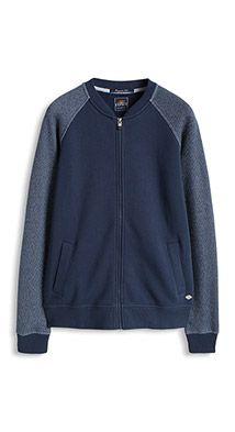 Esprit / Zip-up sweatshirt jacket, 100% cotton