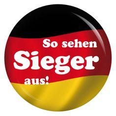 kiwikatze Button So sehen Sieger aus! / Deutschlandfahne