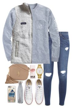 """Untitled #265"" by valerienwashington on Polyvore featuring Frame Denim, Vineyard Vines, Patagonia, Converse, Kate Spade, Yves Saint Laurent, S'well and Casetify"