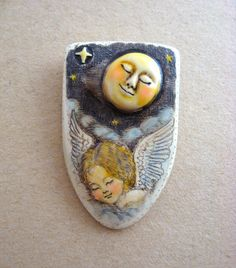 Under the sleeping Moon scrimshaw technique resin pin by moosupvalleydesigns on Etsy https://www.etsy.com/listing/28313779/under-the-sleeping-moon-scrimshaw