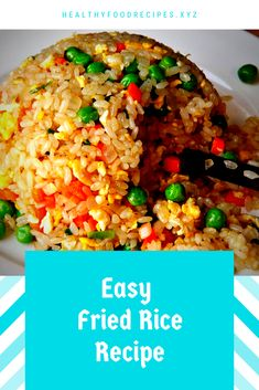 The best & healthy recipes of Easy Delicious Fried Rice Fried Rice Recipe Indian, Chicken Fried Rice Recipe Easy, Best Fried Rice Recipe, Chicken Rice Recipes, Easy Rice Recipes, Rice Breakfast Recipes, Vegetarian Rice Recipes, Healthy Asian Recipes, Asian Dinner Recipes