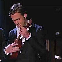 Gosling and ukulele...