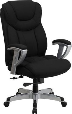 Flash Furniture Hercules Series Capacity Black Fabric Office Chair with Arms Big and Tall -  sc 1 st  Pinterest & 124 best Office Chair images on Pinterest | Hon office furniture ...