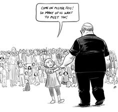 Aaron Feis, a football coach, died protecting students during the Parkland, Florida school shooting. This cartoon by Canadian artist Pia Guerra shows him being welcomed to Heaven by students and teachers killed in previous school shootings. Vancouver, Stoneman Douglas High School, Florida Schools, Broken People, Thing 1, Canada, School Shootings, Canadian Artists, Faith In Humanity