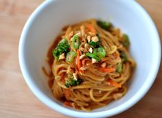 Spicy Peanut Noodles! Best sauce recipe I've found so far (though I added a good deal more sriracha than the recipe called for).